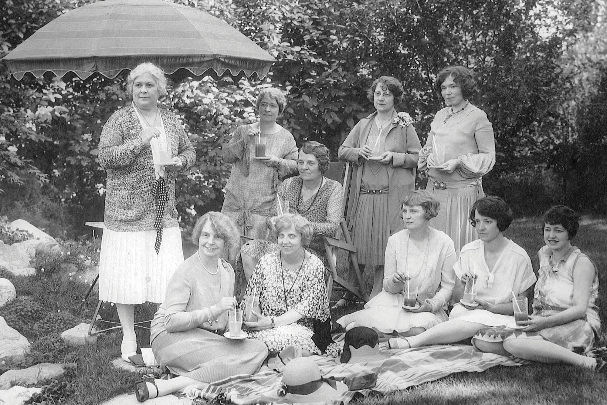 Circle Members at a garden party, 1938