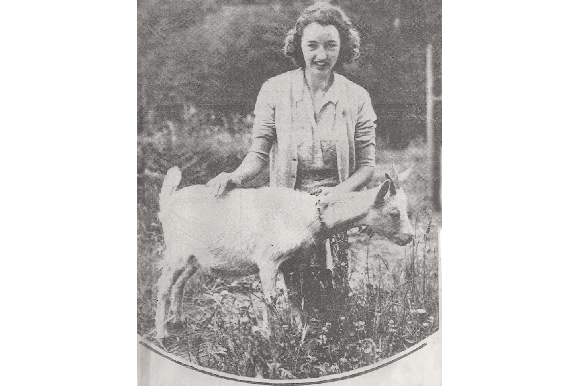 Circle Members distributed goats to families for milk, 1939