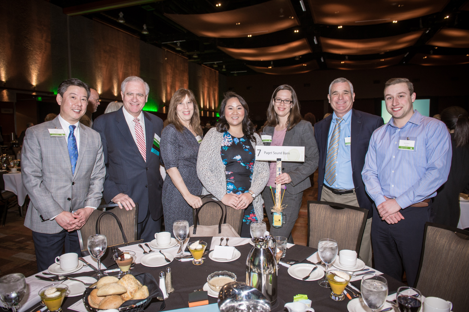 Puget Sound Bank table at Step Up to the Plate Benefit Luncheon